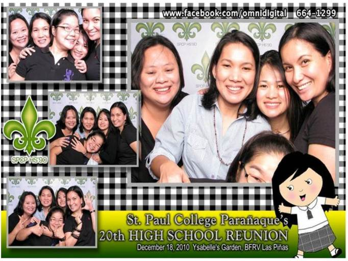 photo booth at high school reunion